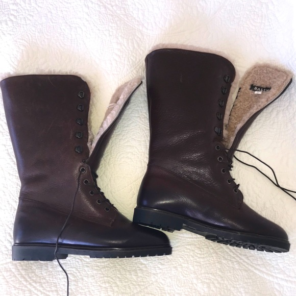 ⚡️SALE!⚡️Real Leather and Shearling Brown Boots